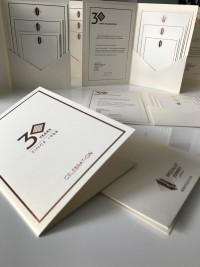 bespoke clean cut modern invite invitation corporate at Invite Delight