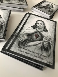 hand paint memorial card by Invite Delight at the cross memorials
