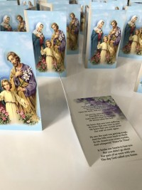Holy Family memorial cards by Invite Delight at the cross memorials