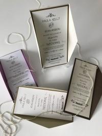 wedding invites in colour recycle rusty rustick invite pocket wedding invitation with hot foil designs at Invite Delight