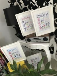 bespoke frames for baby at invite delight