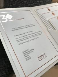 bespoke modern invite corporate at Invite Delight