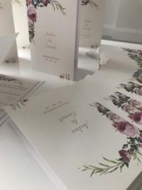 foil rose gold wedding invites designs at Invite Delight