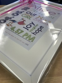 baby frame gift personalised gift beautiful baby girl gifts at invite delight
