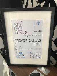 personalised frame gift for runners designs at invite delight