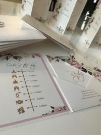 bespoke hot foil pocketfold invite wedding invite pocket wedding invitation with hot foil designs at Invite Delight