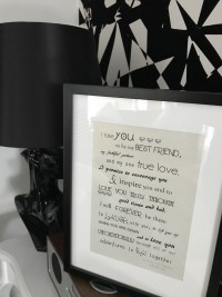 wedding frame for the bride and groom bespoke personalised beautiful at Invite Delight