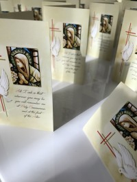 bespoke memorial cards by Invite Delight at the cross memorials