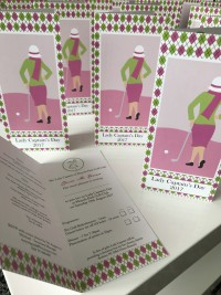 golf bespoke invite lady captains day at Invite Delight